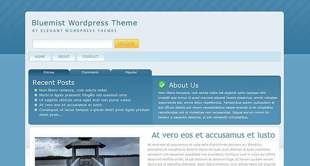 BlueMist ElegantThemes WordPress Theme