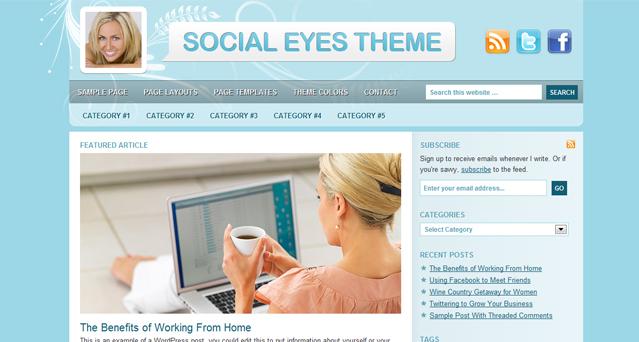 Socialeyes Child WordPress Theme by Studiopress