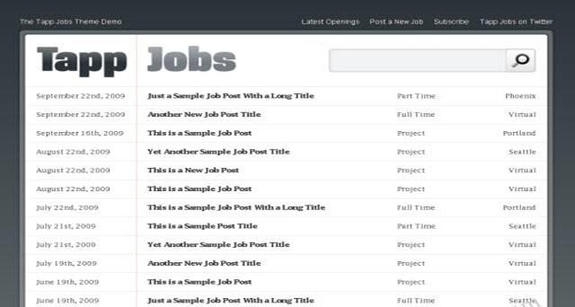 Tapp jobs Press75 WordPress Theme